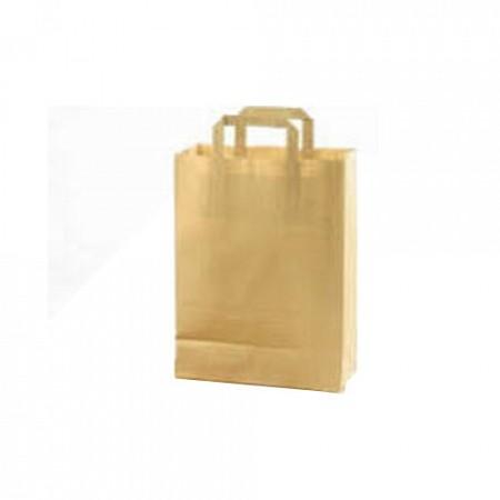 Papieren draagtas 22 x 10 x 38 cm, bruin